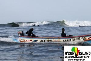 The surf spot NGor Island Right in Dakar - Senegal